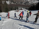 Skiers in the mountains